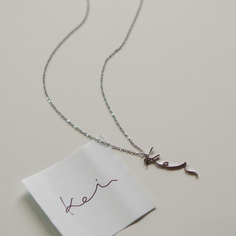 手書きメッセージ necklace