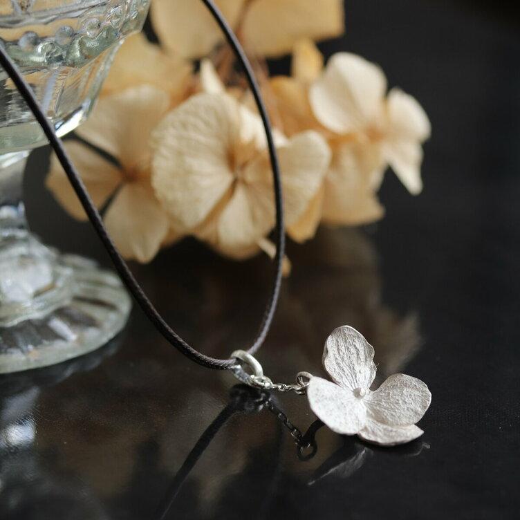シルバー至福の紫陽花ネックレス