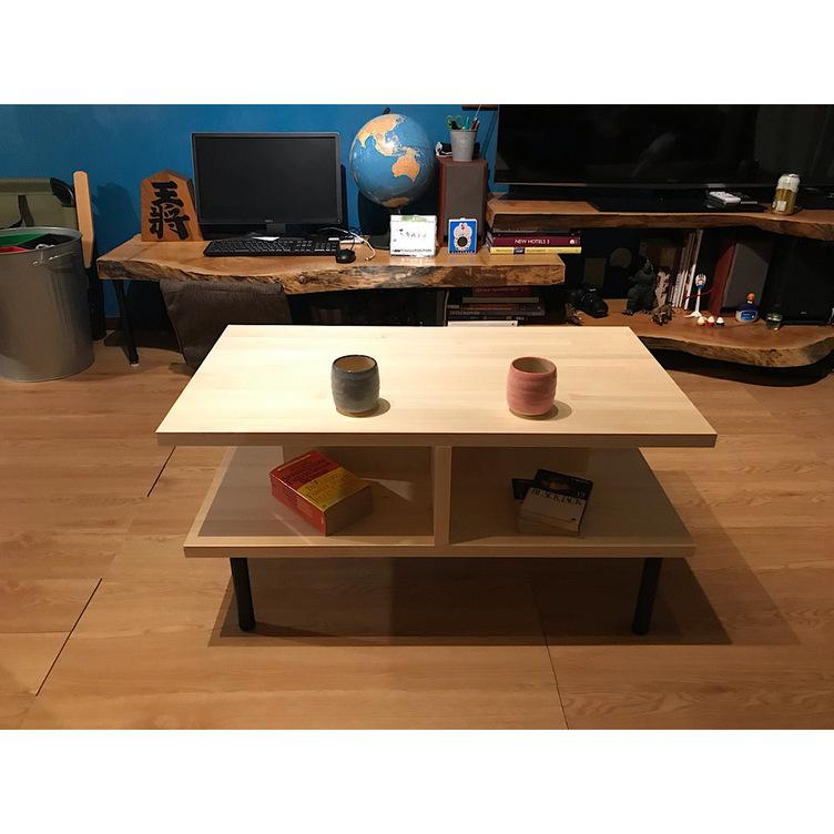 〓栄町工房〓 集成材テーブル 固定脚式E型 / 脚はご自身でお取付け