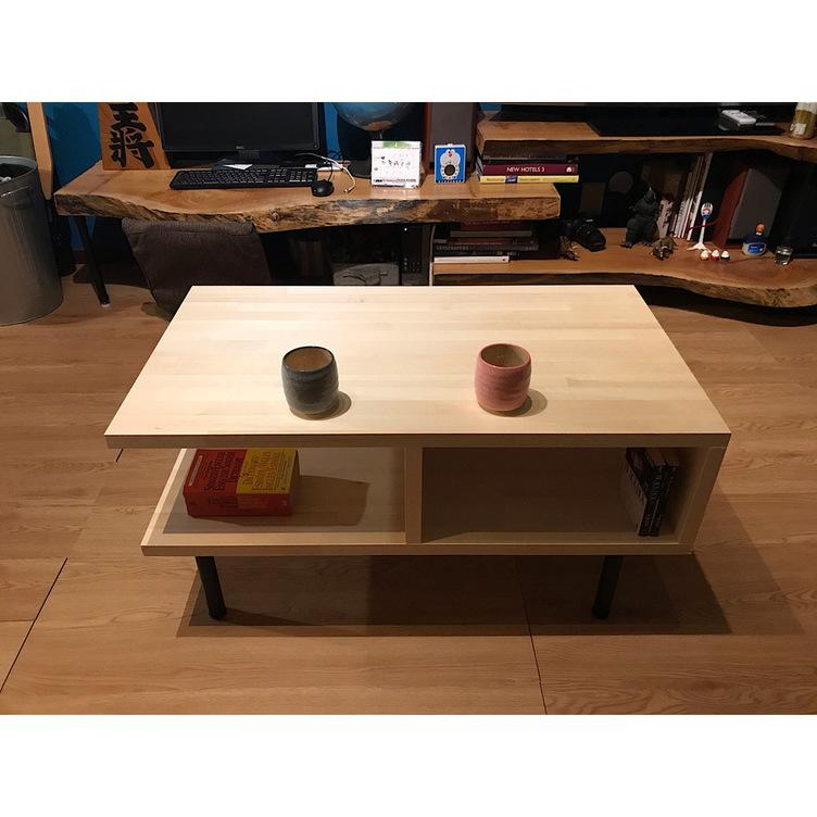 〓栄町工房〓 集成材テーブル 固定脚式B型 / 脚はご自身でお取付け